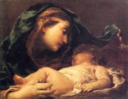 Madona con Niño Jesús durmiente-Giuseppe Maria Crespi