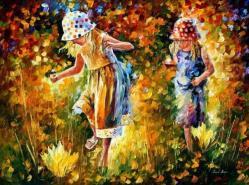 Dos hermanas.Leonid Afrémov