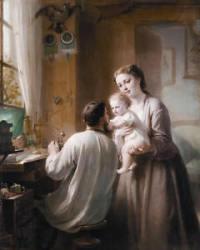 Padre, madre y bebé- Buhler Fritz Zuber